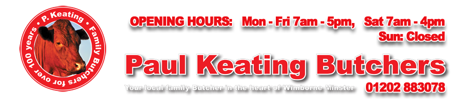 Paul Keating Butchers, Wimborne